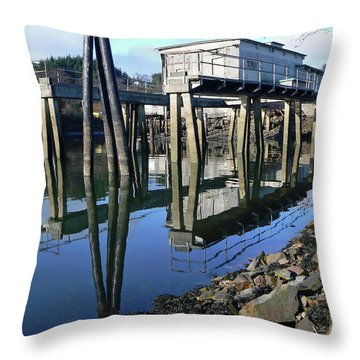 Boat Yard Gear Shed Throw Pillow