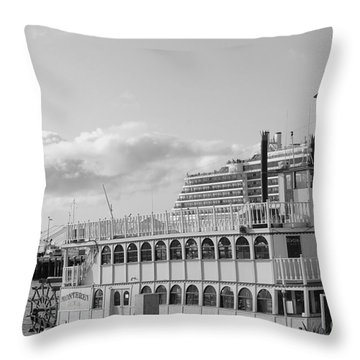 Throw Pillow featuring the photograph Boats - The Past And Now by Jasna Gopic