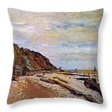 Boatyard Near Honfleur Throw Pillow by Claude Monet
