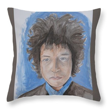 Bob Dylan Throw Pillow by Joseph Papale
