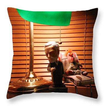Bobble Freud Psychobabbles Beeker Throw Pillow by Alan Schwartz
