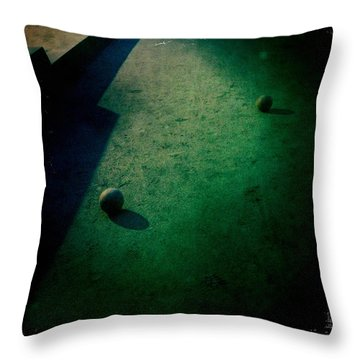 Bocce Ball Court Throw Pillow