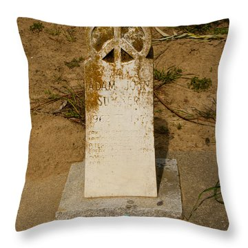 Bodega Bay Cemetery Throw Pillow