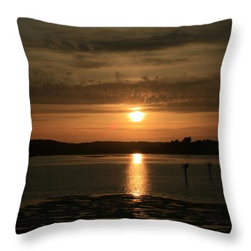 Bodega Bay Sunset II Throw Pillow