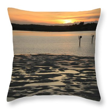 Bodega Bay Sunset Throw Pillow