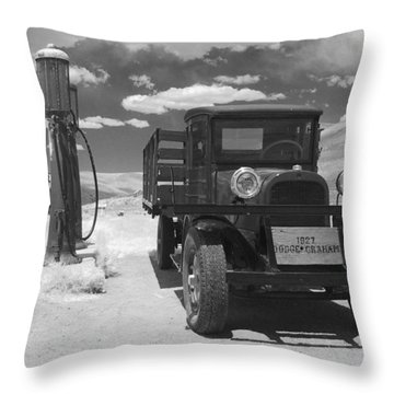 Bodie California - A Trip Back In Time Throw Pillow by Christine Till