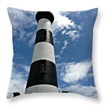 Bodie Island Lighthouse Throw Pillow by Jo Sheehan