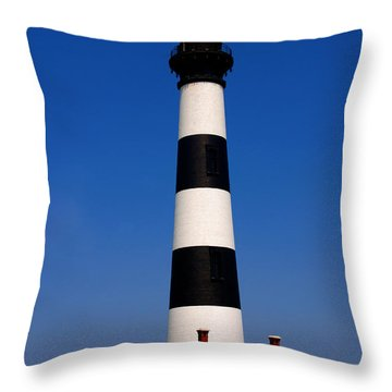 Bodie Island Lighthouse Outer Banks Nc Throw Pillow by Susanne Van Hulst