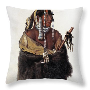 Bodmer: Young Mandan Throw Pillow by Granger
