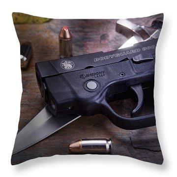 Bodyguard Concealed Carry Throw Pillow by Tom Mc Nemar