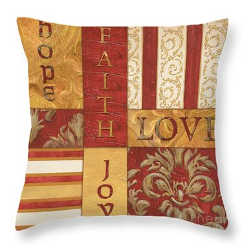 Bohemian Red Spice 1 Throw Pillow by Debbie DeWitt
