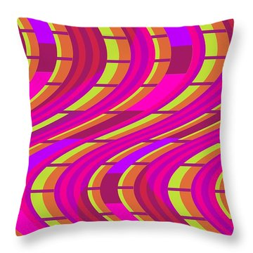 Bold Swirl  Throw Pillow by Louisa Knight