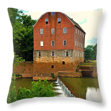 Bollinger Mill Throw Pillow by Marty Koch