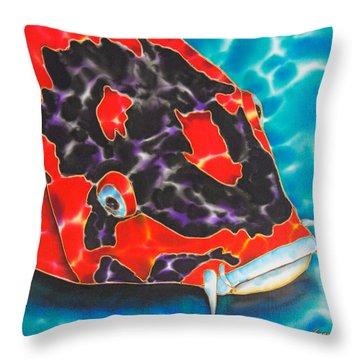 Bolt Koi Throw Pillow by Daniel Jean-Baptiste