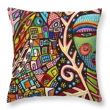 -bone Tree Of Life Skeleton Goddess Throw Pillow