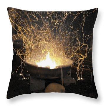 Bonfire Throw Pillow by Sumit Mehndiratta