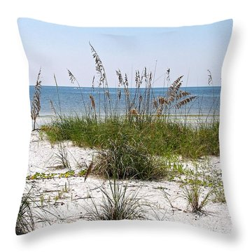 Bonita Beach Throw Pillow by Carol  Bradley