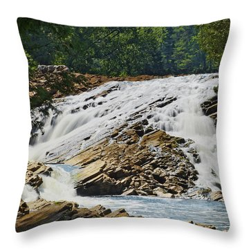 Bonnechere Falls Throw Pillow by Phill Doherty