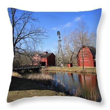 Bonneyville Mill Throw Pillow