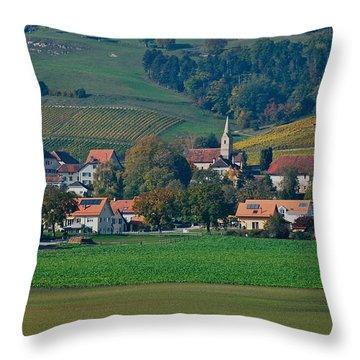 Throw Pillow featuring the photograph Bonvillars by Eric Tressler