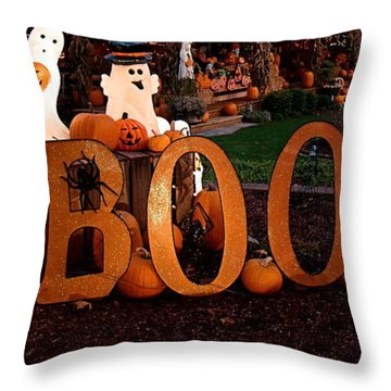 Throw Pillow featuring the photograph BOO by Nick Kloepping