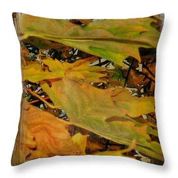 Book Of Leaves  Throw Pillow