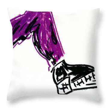 Boot Throw Pillow by Patrick Morgan