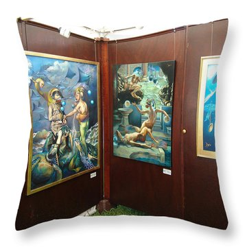 Booth 4 Throw Pillow by Patrick Anthony Pierson