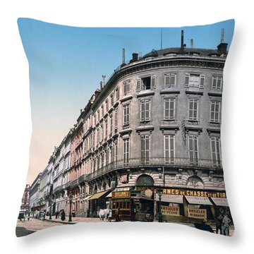 Bordeaux - France - Rue Chapeau Rouge From The Palace Richelieu Throw Pillow by International  Images