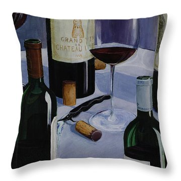 Bordeaux Throw Pillow by Geoff Powell