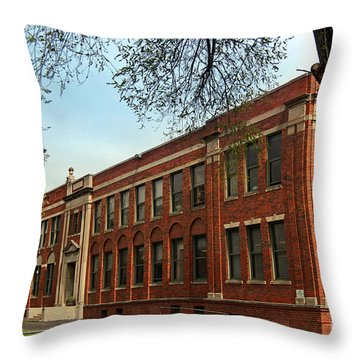 Border Star Elementary School Kansas City Missouri Throw Pillow