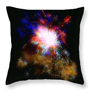 Born On The 4th Of July Throw Pillow by Dale   Ford