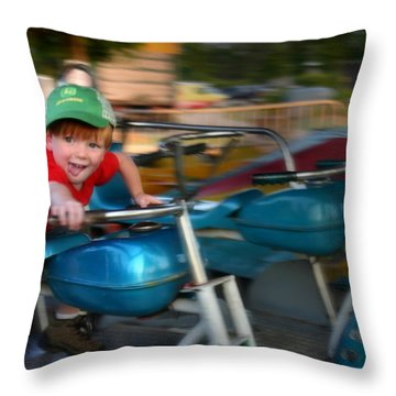 Born To Ride Throw Pillow by Kelly Hazel