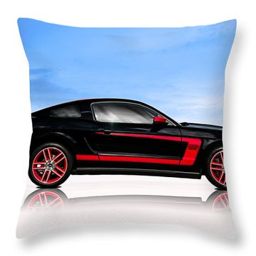 Boss Mustang Throw Pillow