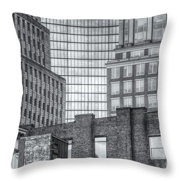 Boston Building Facades II Throw Pillow by Clarence Holmes