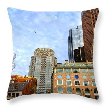 Boston Downtown Throw Pillow by Elena Elisseeva