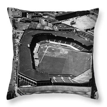 Boston: Fenway Park Throw Pillow by Granger
