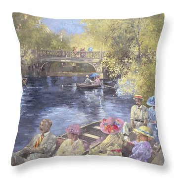 Botanic Gardens - Southport Throw Pillow by Peter Miller