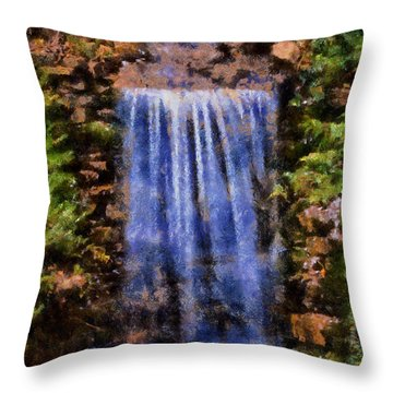 Botanical Garden Falls Throw Pillow by Lynne Jenkins