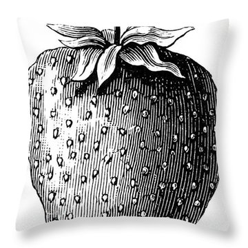 Botany: Strawberry Throw Pillow by Granger