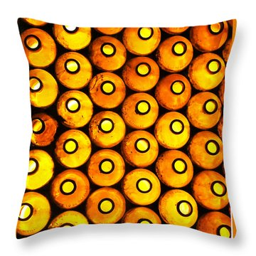 Throw Pillow featuring the photograph Bottle Pattern by Nareeta Martin