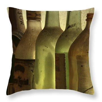 Bottles Still Throw Pillow by Kelly Rader
