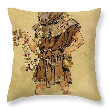 Bottom - A Midsummer Night's Dream Throw Pillow by C Wilhelm