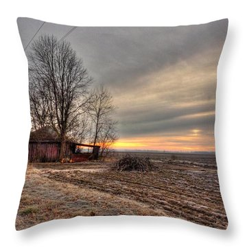 Bottoms Sunrise Throw Pillow by William Fields