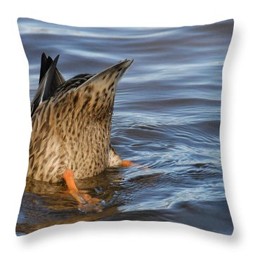 Bottom's Up Throw Pillow by Cindy Manero