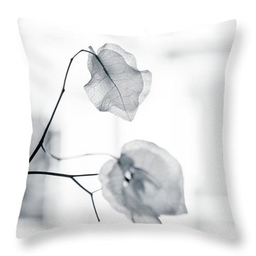 Bougainvillea - High-key Lighting Throw Pillow