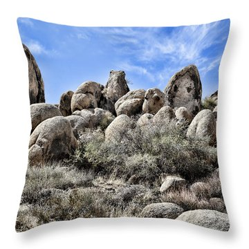Boulder Populated Throw Pillow by Kelley King