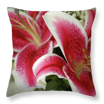 Throw Pillow featuring the photograph Bouquet Of Love by Wanda Brandon