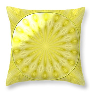 Bouquet Of Roses Kaleidoscope 7 Throw Pillow by Rose Santuci-Sofranko