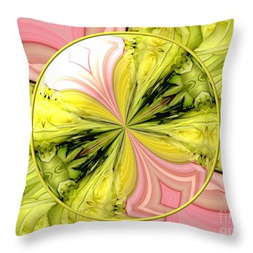 Bouquet Of Roses Kaleidoscope 9 Throw Pillow by Rose Santuci-Sofranko